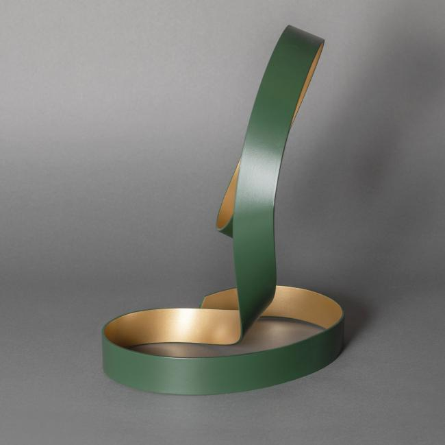 Green and gold dance sculpture 3