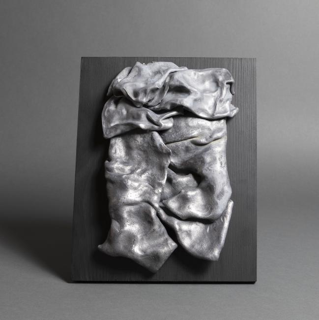 Lead fabric sculpture 1