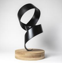 Dance - Black twist on oak_Sculpture 1