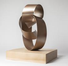 Forced elegance II on maple - Sculpture 1