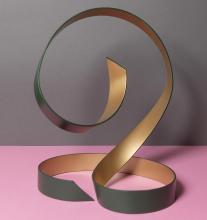 Green and gold dance sculpture 6